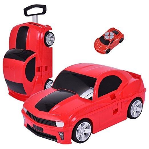 Maleta Ninos Diseno Carro Y Juguete Control Goplus Rojo 2 245 00