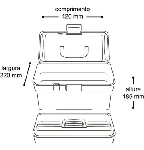 maleta organizadora caixa para ferramentas, pesca, costura c