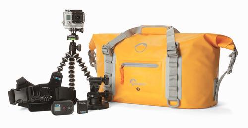 maleta para cámara dryzone duffle 20l lowepro amarillo