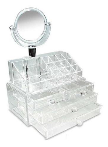 maleta para cosmeticos batom pincel em acrilico organizador
