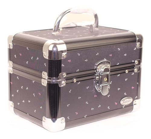 maleta para maquiagem vazia grande 4 bandejas rubys chaves