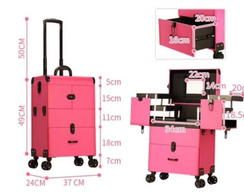 maleta para maquillaje y manicure 13034 negra