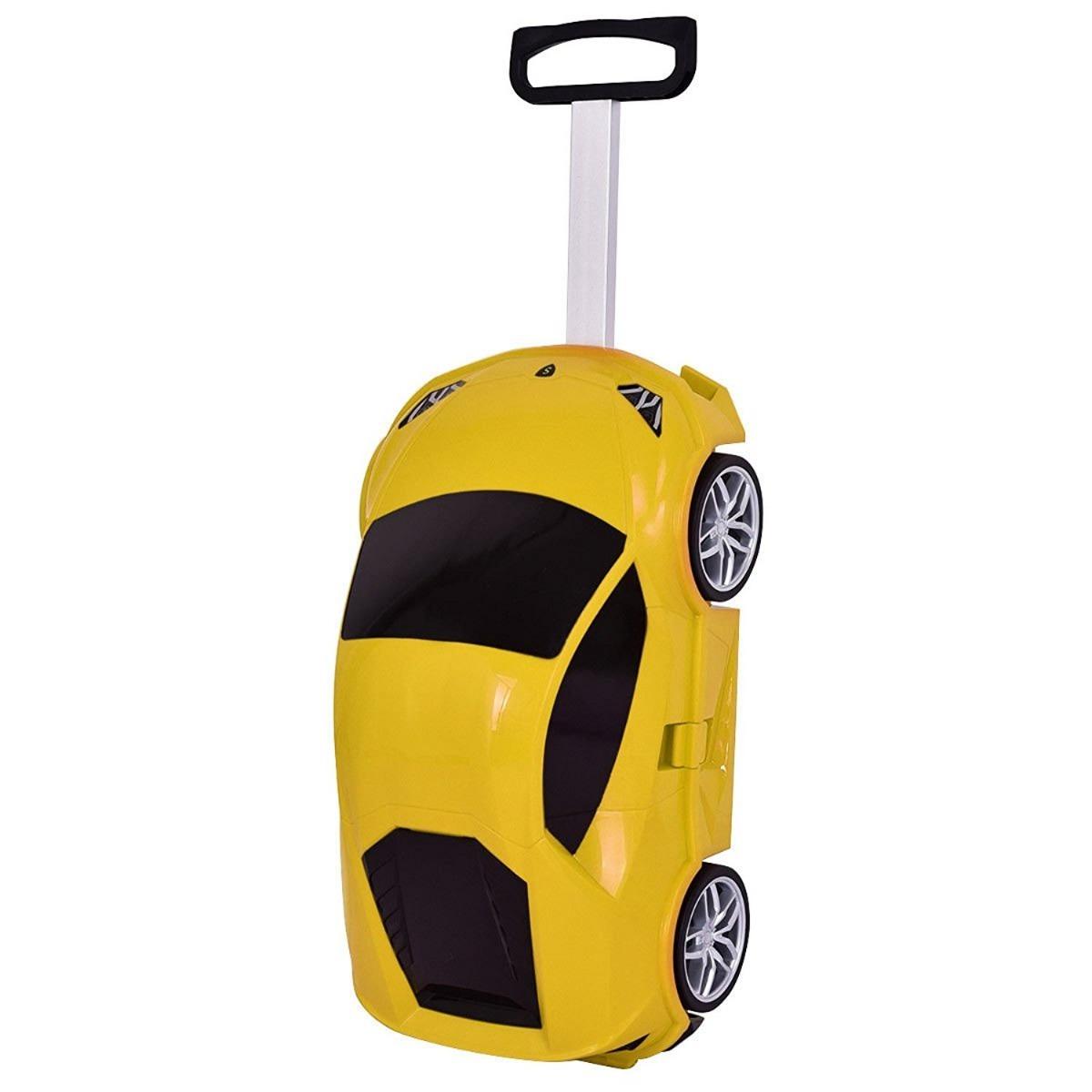 f2c0f44ac Maleta Para Niños Diseño De Carro Con Ruedas Amarillo - $ 2,286.00 ...