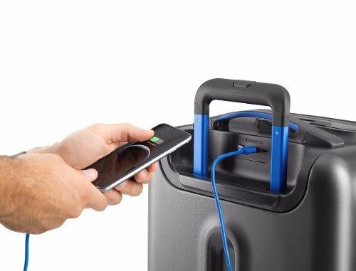maleta para viajes inteligente bluesmart con gps
