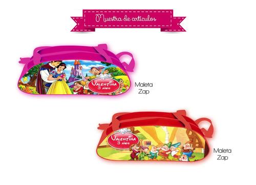 maleta personalizada zap lonchera dulcero fiesta recuerdo