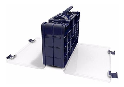 maleta pesca dupla face azul hi 44 divisorias isca anzol