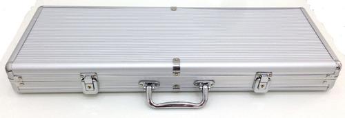 maleta poker 500 fichas oficiais s/numeração kit compl