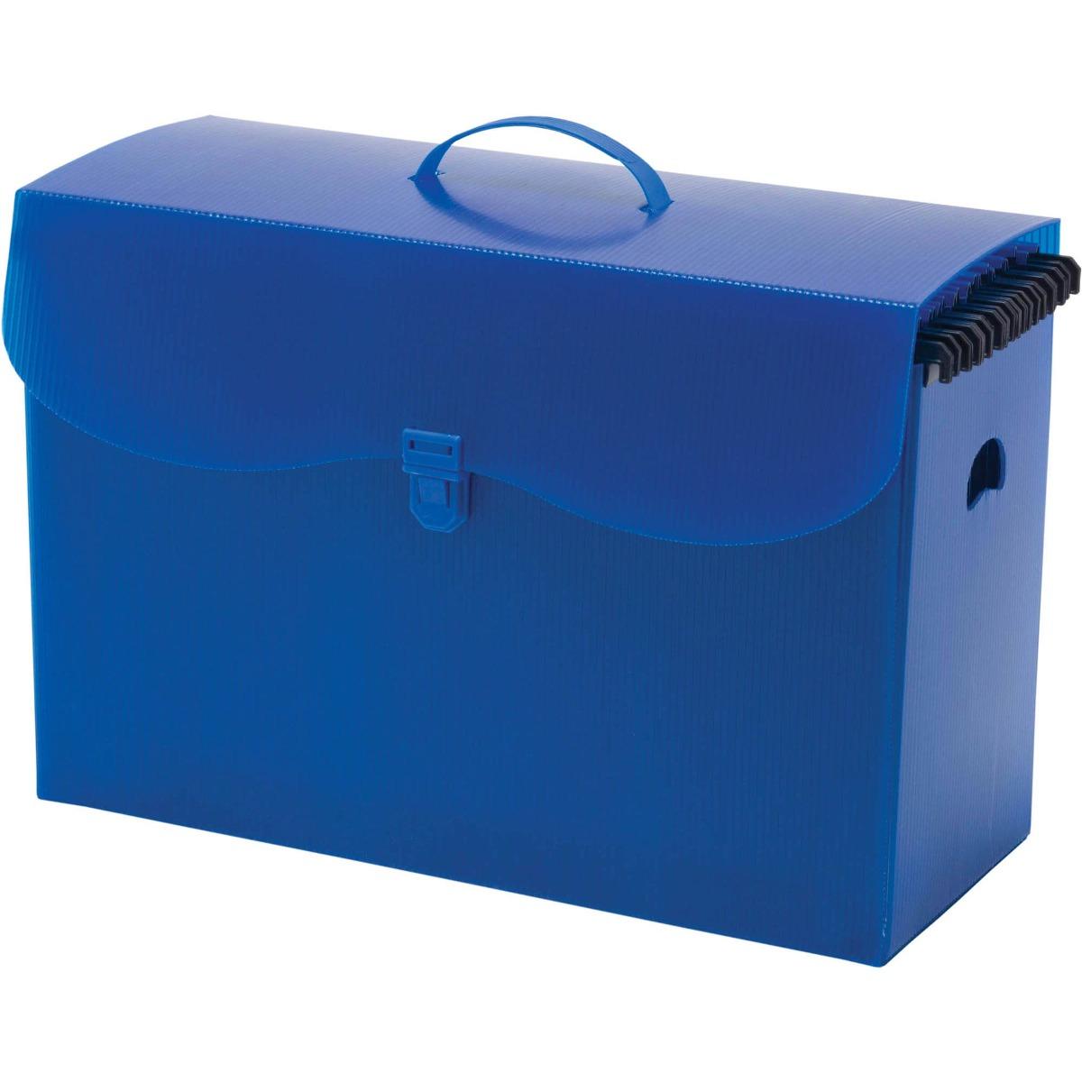 Maleta Polionda Com Alca Azul C 10 Pastas Suspensas Polycart - R  80,38 em  Mercado Livre a87fd048d2