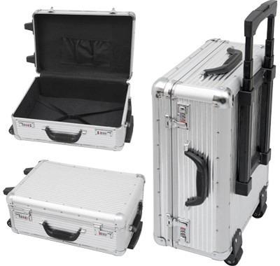maleta profissional com carrinho  importada