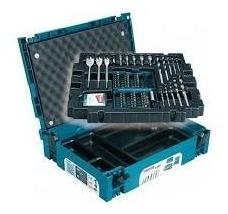 maleta profissional de bits e brocas makita conjunto 100pçs