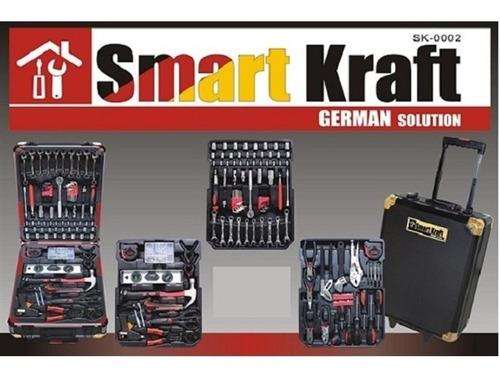 maleta profissional ferramentas c/ 199 peças chrome vanadium