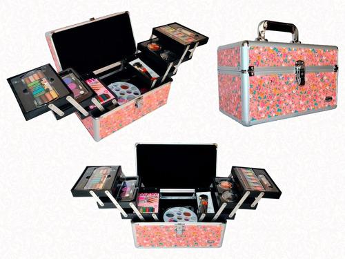 maleta profissional grande + maquiagem + brinde promoção