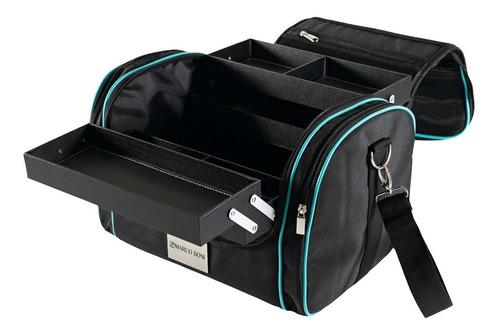 maleta profissional pratice de maquiagem com compartimento removível e gavetas retráteis original - marco boni