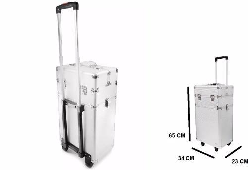 maleta profissional rubys maquiagem com rodinhas fs 1201