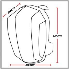 maleta reflectiva / moto / impermeable / portacasco / morral