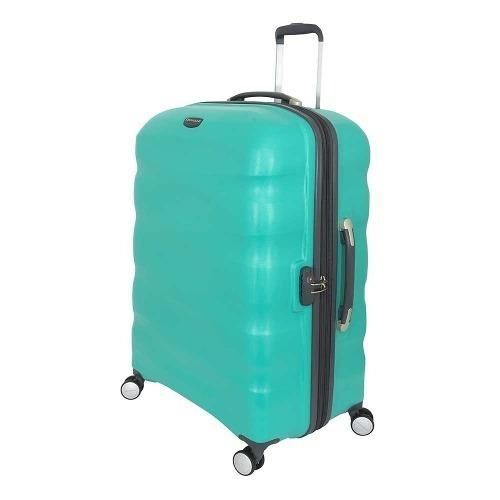 maleta rígida saxoline tornado spinner 77/28 turquoise l