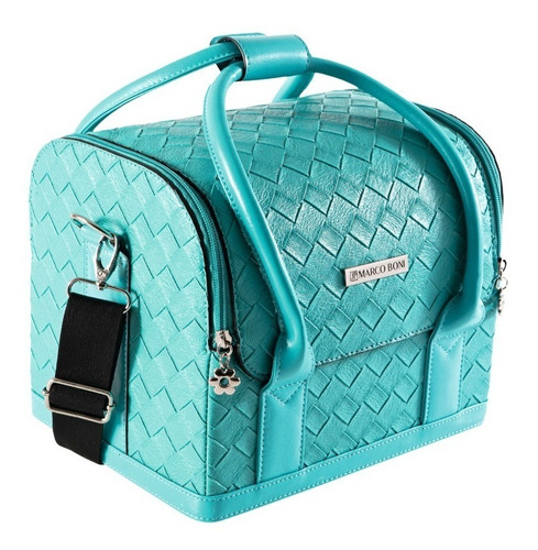 maleta tifany profissional de maquiagem com alça removível + 2 necessaire exclusiva - maquiadora - marco boni