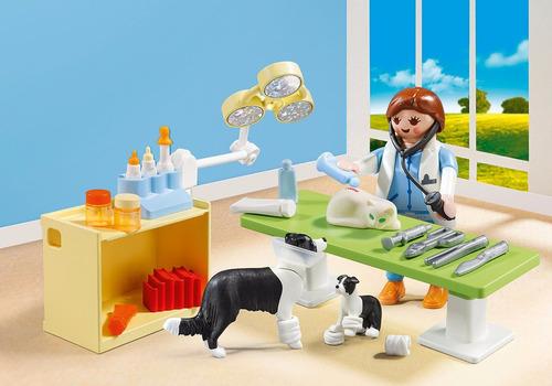 maleta veterinário com 39 peças original playmobil 5653