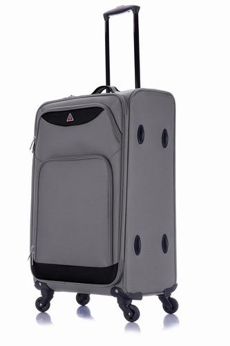 maletas de viaje con 4 ruedas de 61 cm gris