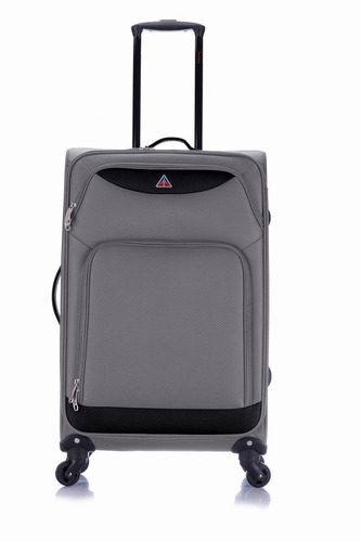 maletas de viaje con 4 ruedas de 61 cm gris - lfmg