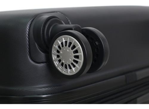 maletas de viaje con 8 ruedas de 61 cm negro