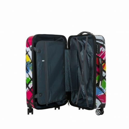 maletas de viaje dura con 8 ruedas juego de 3 paint espj