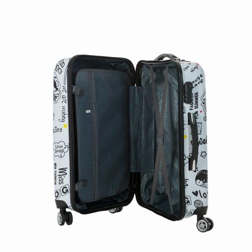 maletas de viaje duras con 8 ruedas juego de 3 love - eslj