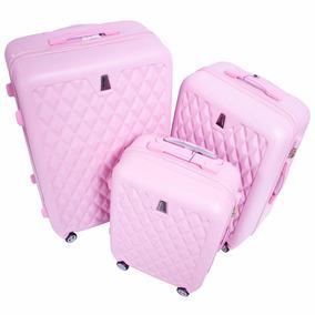 4d5783de9 Maletas Set Kit 3 Rigidas Viaje Juvenil Morado Vacaciones