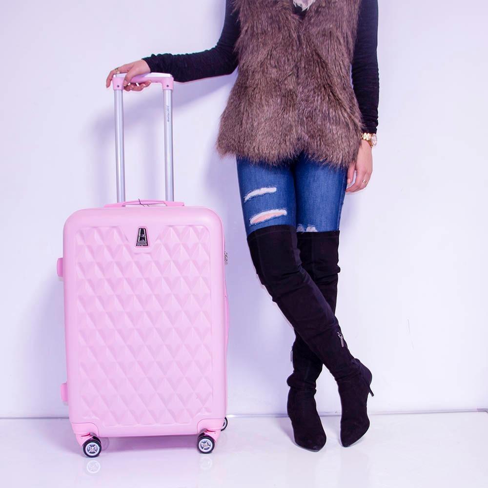 ea205c278 maletas set kit 3 rigidas viaje juvenil morado vacaciones. Cargando zoom.