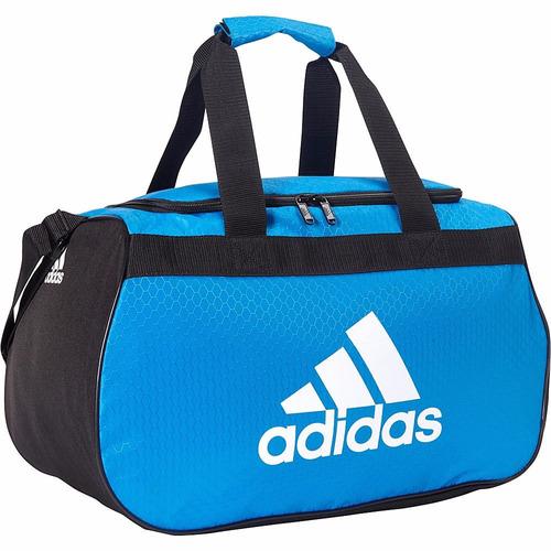 maletin adidas diablo duffel small 100% original color azul