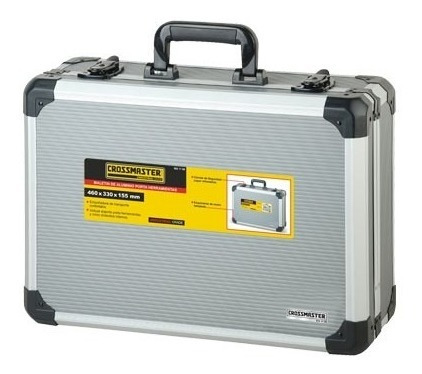 maletín aluminio porta herramienta crossmaster 455x330x152mm