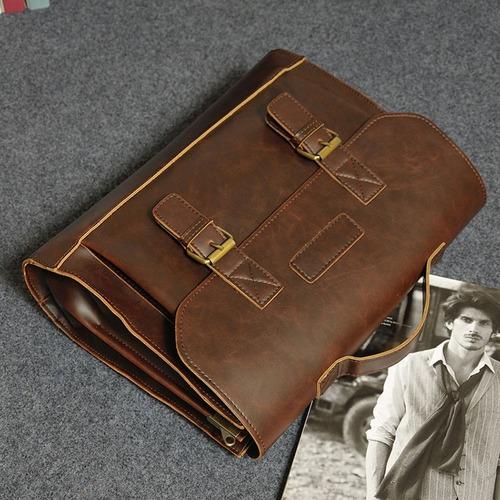 maletín bolso de hombre piel sintetica laptop 14 oficina