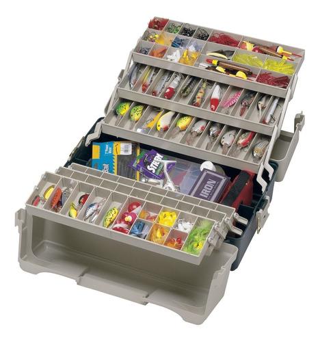 maletín caja de pesca plano 9606-02 con 6 bandejas