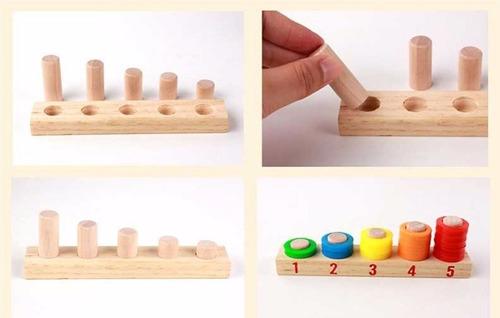 maletín calculo de números juegos didácticos de madera-niños