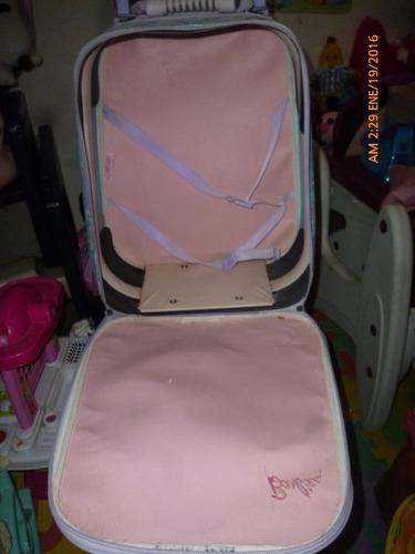 maletin con ruedas de barbie original.