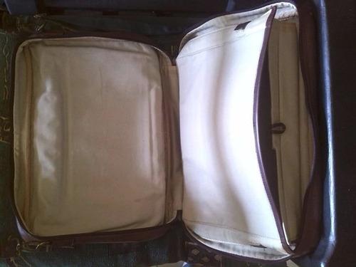 maletin de 100% cuero argentino usado