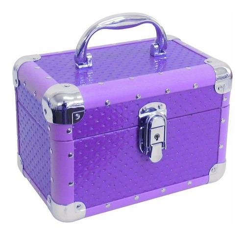 maletin de color para maquillaje tela simil cuero m2010