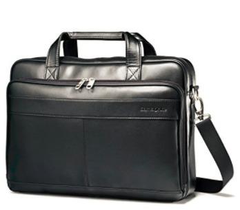 maletin de cuero negro samsonite para laptop
