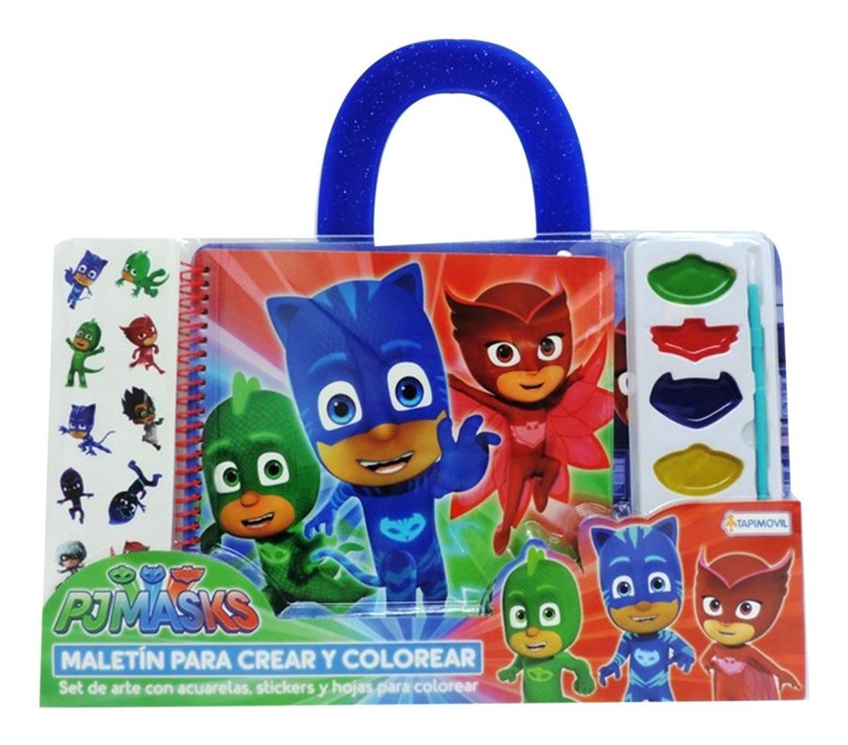 Maletin De Dibujos Para Colorear Héroes En Pijamas Tapimovil