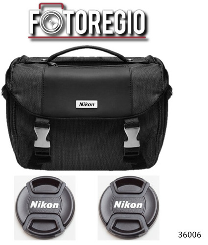 maletin de lujo + 2 tapas originales lc-52 d5300 d5500 d5600