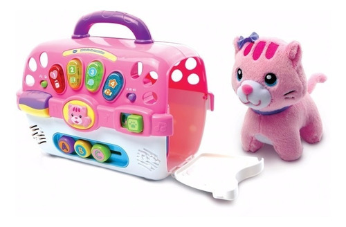 maletin de mascotas con luces y sonido original vtech