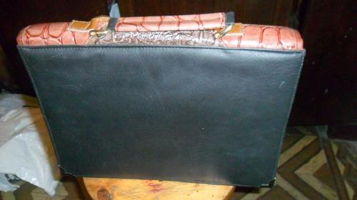maletin de  piel  ejecutivo de dama