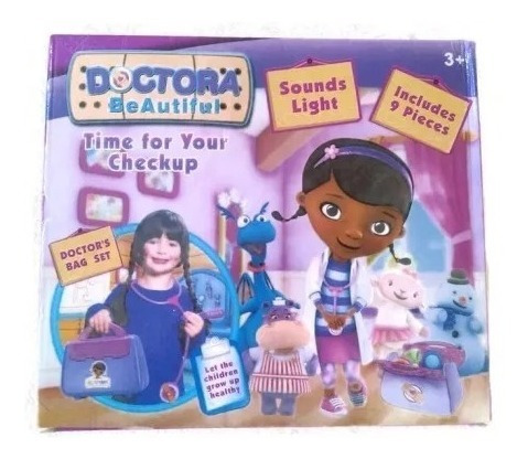 maletin doctora juguetes doc mcstuffin playset set niñas ajd