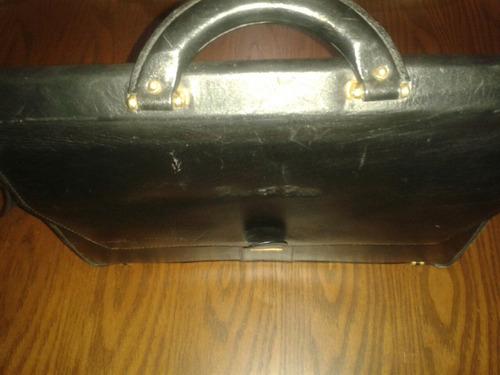 maletin ejecutivo de cuero legitimo marca pura casta usado