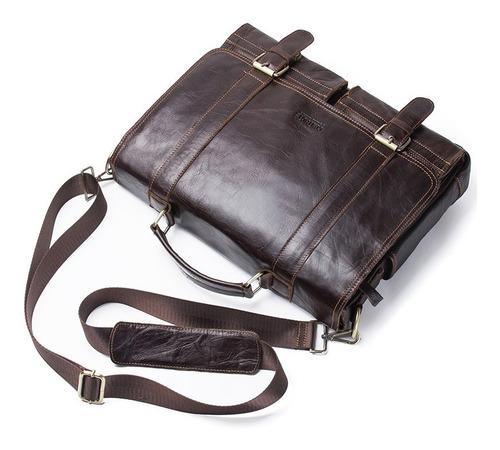 maletin morral bolso cuero genuino hombre importado