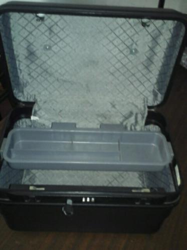 maletin necesser valija con llave y combinacion maquillaje