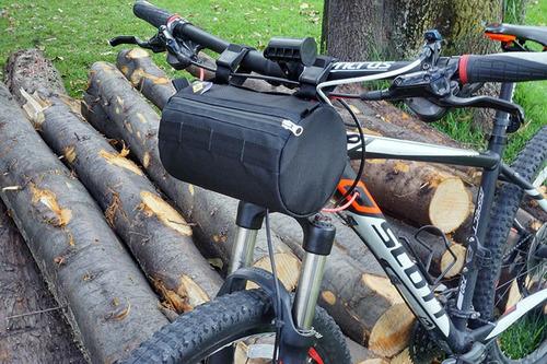 maletin para bicicleta barril supremo de manubrio morral