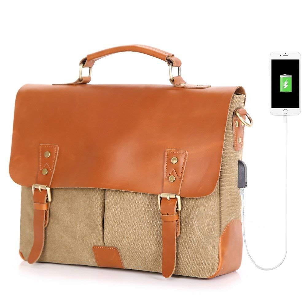16917800f59 maletín para portátil con bolso de hombre messenger usb p... Cargando zoom.