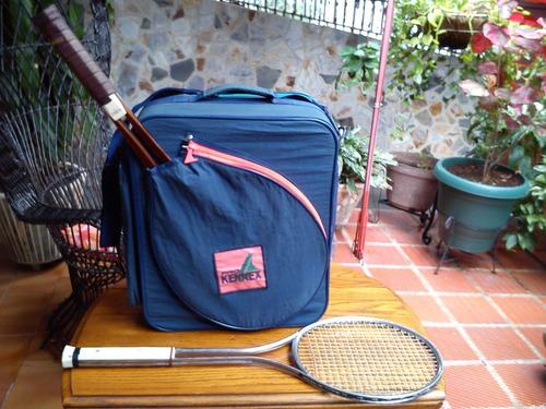 maletin para tennis con 2 raquetas incl. marca sunny