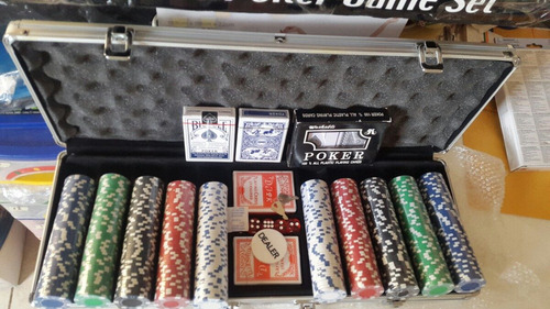 maletín poker fichas x 500 fichas sin numerar oferta special